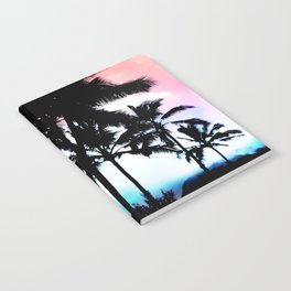 Sunset Summer Palm Trees Notebook