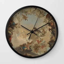 Allegory of the Planets and the Continents by Giovanni Battista Tiepolo Wall Clock