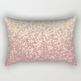 Champagne Gold Blush Pink Glittery Ombre Pattern #society6 Rectangular Pillow