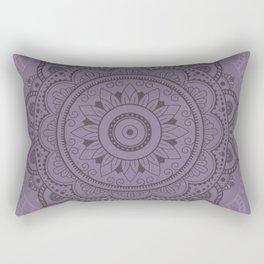 Mandala Watercolor Sketchy, Mandala Yoga, Lilac Rectangular Pillow