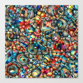 Colorful 3D Abstract Canvas Print