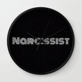 Narcissist Wall Clock