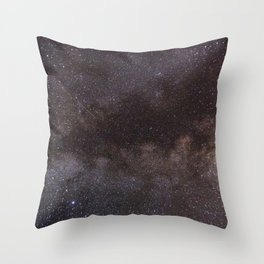 Blue and Red Galaxy Artwork Abstract Throw Pillow