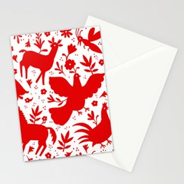 Otomi in red Stationery Cards