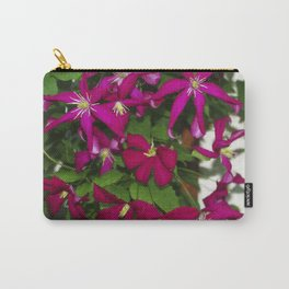 Clematis viticella Mme Julia Correvon Carry-All Pouch