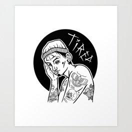 tired boi Art Print