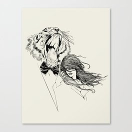 The Tiger's Roar Canvas Print