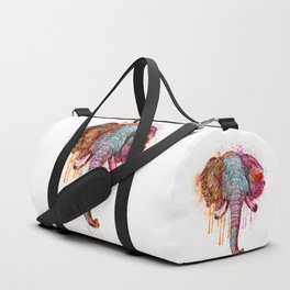 Watercolor Elephant Head Duffle Bag