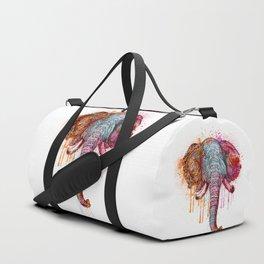 Watercolor Elephant Head Duffle Bag