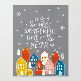 wondeful time of the year Canvas Print