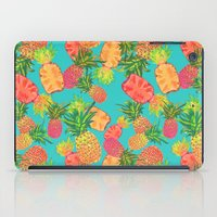 pineapples iPad Cases featuring Pineapples by Laura Barnes