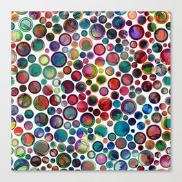 Dots on Painted Background 2 Canvas Print