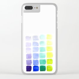 Squared Gradients Clear iPhone Case
