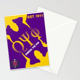 Omega Psi Phi (Divine Nine Series) Stationery Cards