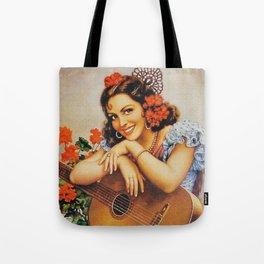 girl with guitarra Tote Bag