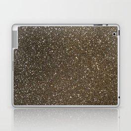 Bronze Gold Burnished Glitter Laptop & iPad Skin