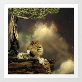 The Lion & the Lamb Art Print