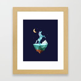 unicorn in the universe Framed Art Print