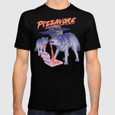 Pizzavore MEDIUM Mens Fitted Tee Black