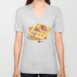 Waffles Unisex V-Neck