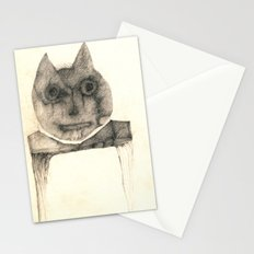 cat on the table Stationery Cards