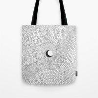 yin yang Tote Bags featuring yin yang by Pao Designs