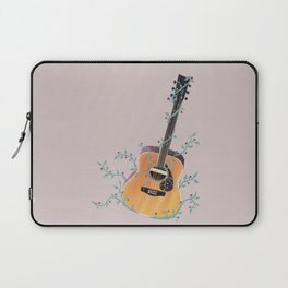 Acoustic Guitar with Vines Illustration  Laptop Sleeve