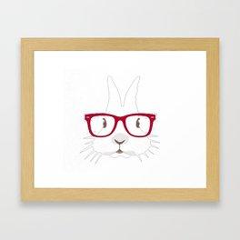Easter Day T-Shirt Adorable Hipter Glass Bunny Tshirt Framed Art Print