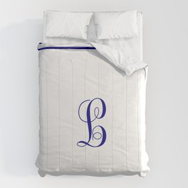 Monogram Letter L With Double Border Comforters