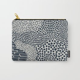 Dark Blue Patterned Pattern II Carry-All Pouch