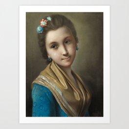 Pietro Antonio Conte Rotari, Portrait of a Young Lady Art Print