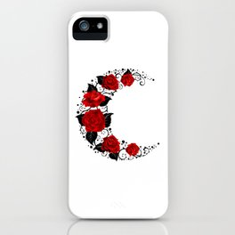 Moon of Red Roses iPhone Case