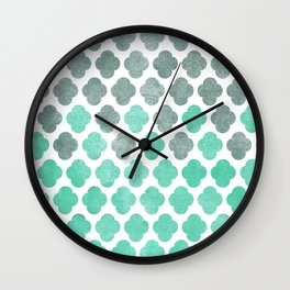 Sailing Under a Grey Sky - Moroccan Pattern Wall Clock