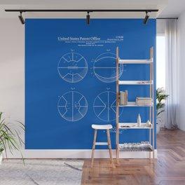 Basketball Patent - Blueprint Wall Mural