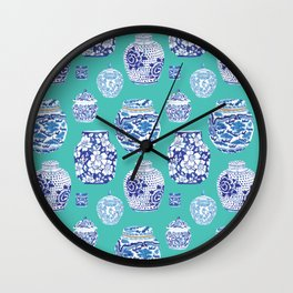 Chinoiserie Ginger Jar Collection No.5 Wall Clock