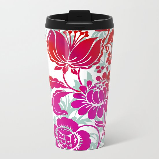 Flowers III Metal Travel Mug