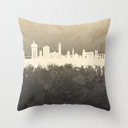 Colchester England Skyline Throw Pillow