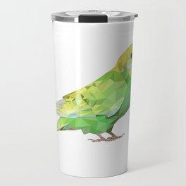 Geometric green parakeet Travel Mug