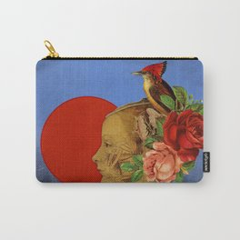 woman with birds and flowers hat Carry-All Pouch