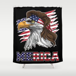 Patriotic Mullet Eagle | Independence Day July 4th Shower Curtain