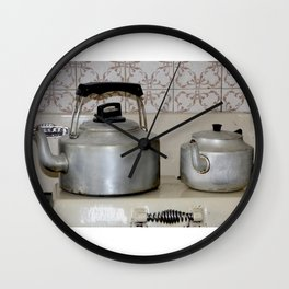 Teapot and kettle vintage stove top Kitchen equipment Wall Clock