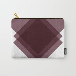 Modern Geometric Art Deco Burgundy Carry-All Pouch