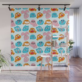 Gumball Faces Pattern Wall Mural