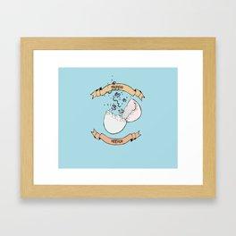 Manda Huevos Framed Art Print