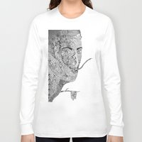 salvador dali Long Sleeve T-shirts featuring Salvador Dali by Ina Spasova puzzle