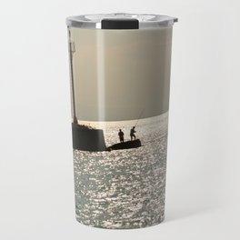 Silhouettes on the Corinth Canal Travel Mug