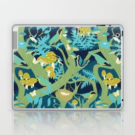 North American Forest Pattern (Greens) Laptop & iPad Skin