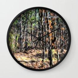 Abstract Nature 123 Wall Clock