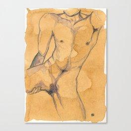 he/him. Canvas Print