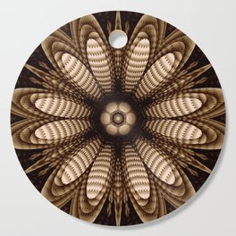 Abstract flower mandala with geometric texture Cutting Board